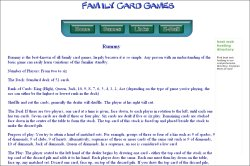 Family Card Games: Rummy